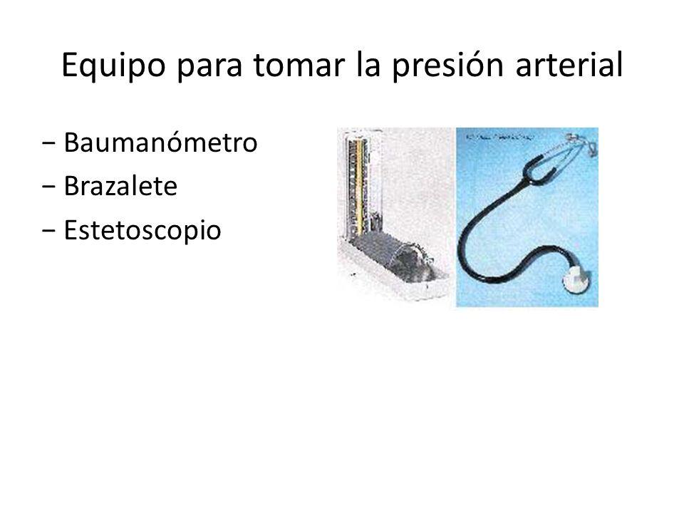 Equipo para tomar la presión arterial Baumanómetro Brazalete Estetoscopio