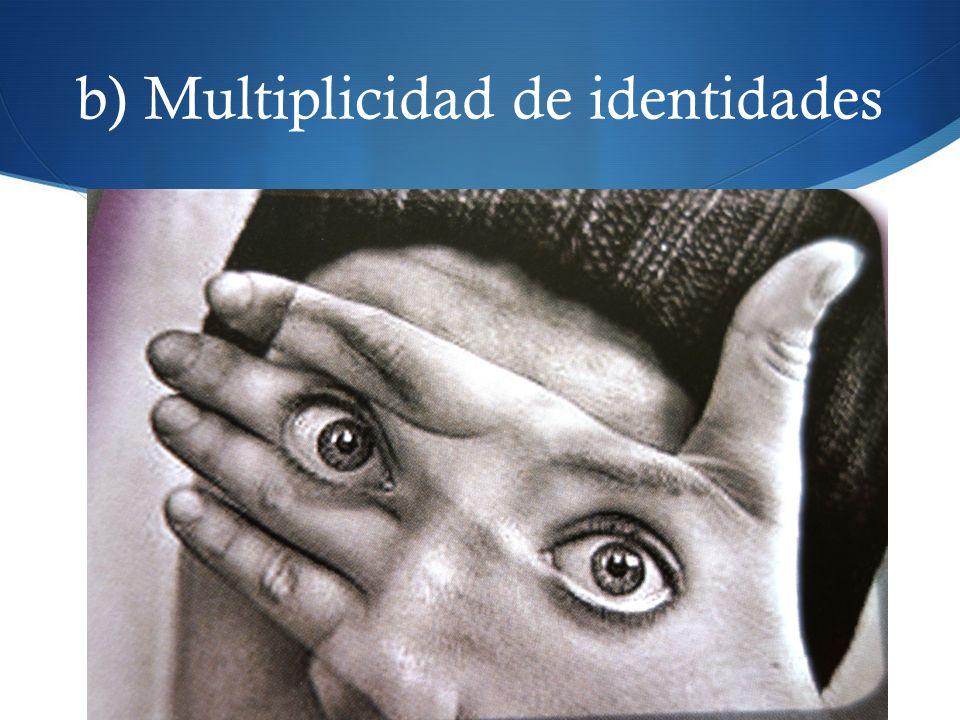b) Multiplicidad de identidades