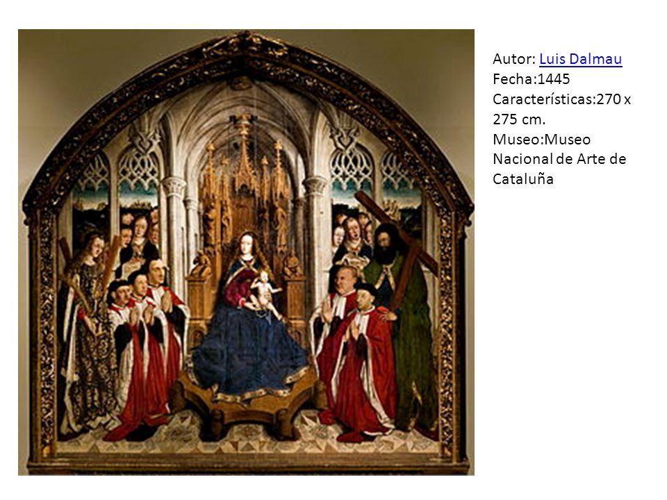 Autor: Luis Dalmau Fecha:1445 Características:270 x 275 cm.