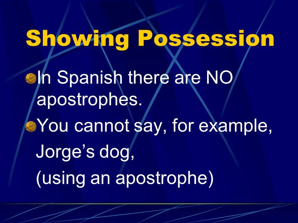 De Viaje 3 Possessive Adjectives/ Possessive Pronouns