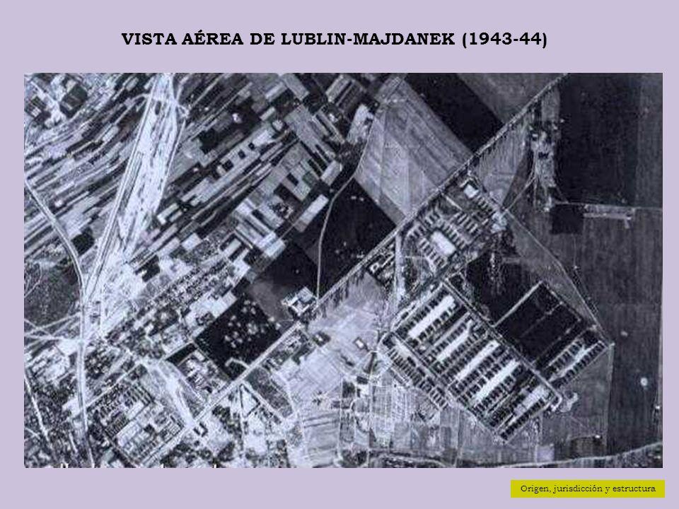 VISTA AÉREA DE LUBLIN-MAJDANEK (1943-44) Origen, jurisdicción y estructura