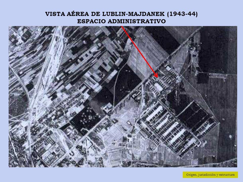 VISTA AÉREA DE LUBLIN-MAJDANEK (1943-44) ESPACIO ADMINISTRATIVO Origen, jurisdicción y estructura
