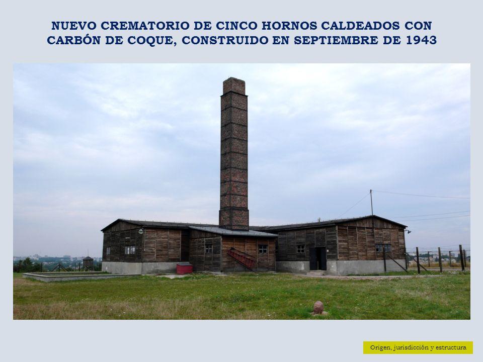 NUEVO CREMATORIO DE CINCO HORNOS CALDEADOS CON CARBÓN DE COQUE, CONSTRUIDO EN SEPTIEMBRE DE 1943
