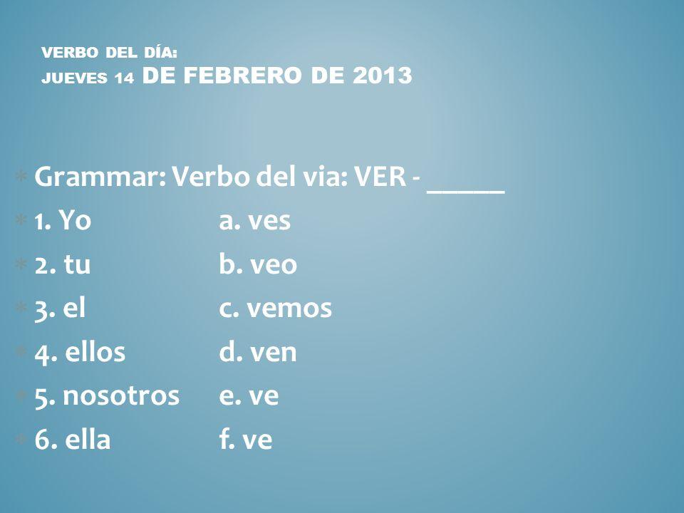 AGENDA VIERNES 15 NO SCHOOL DE FEBRERO DE 2013 No school