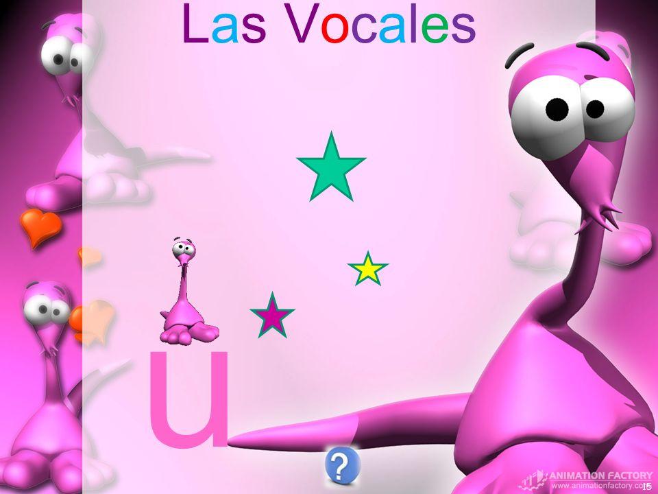Las Vocales 15 u