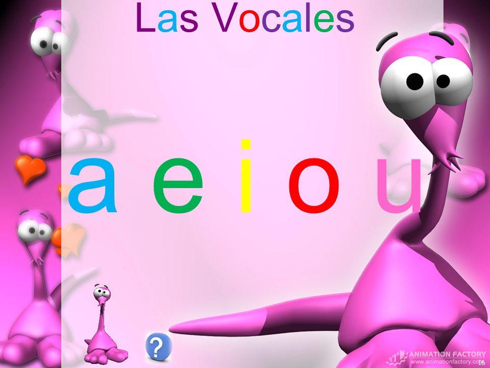 Las Vocales 16 a e i o ua e i o u