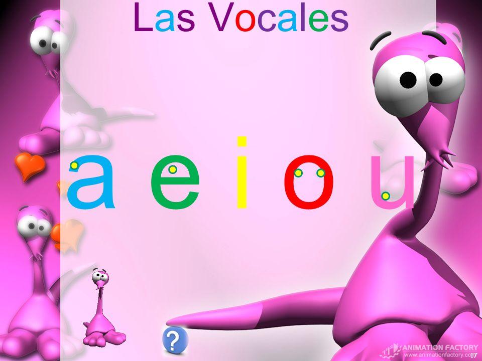 Las Vocales 17 a e i o ua e i o u