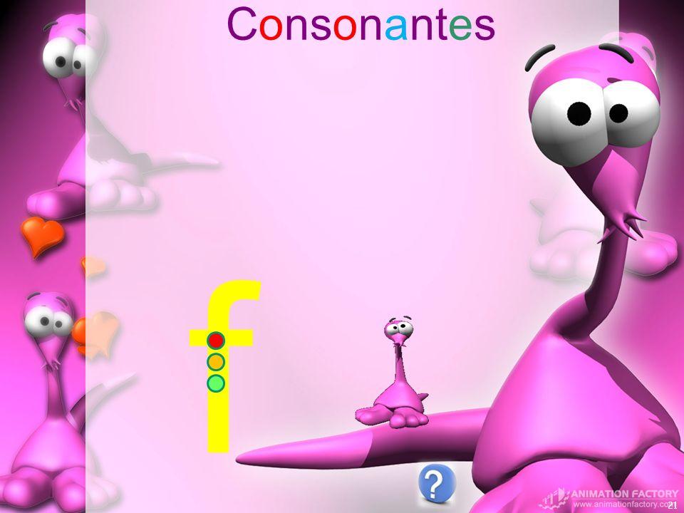 Consonantes 21 f