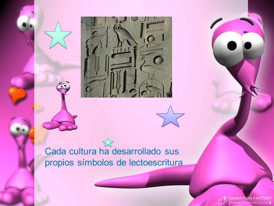 Cada cultura ha desarrollado sus propios símbolos de lectoescritura 4
