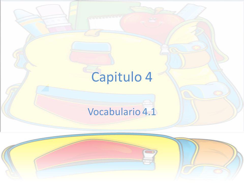 #21.Los útiles escolares (school supplies) Tengo una lista de útiles escolares para el colegio.