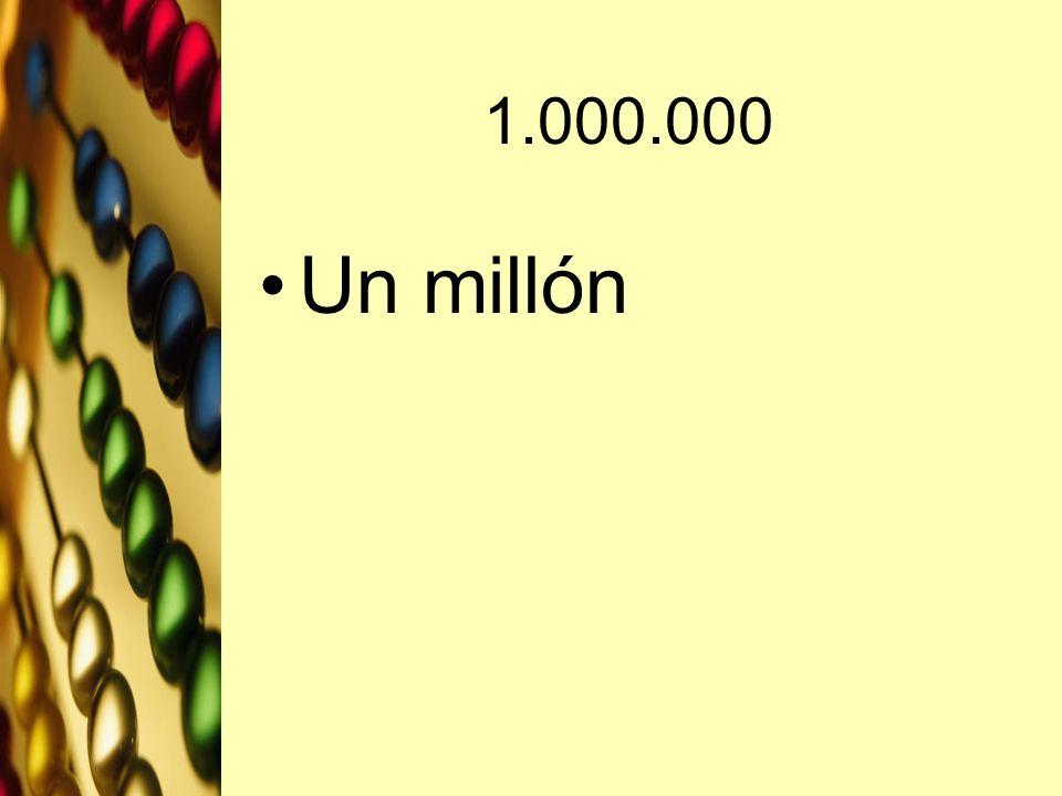 1.000.000 Un millón