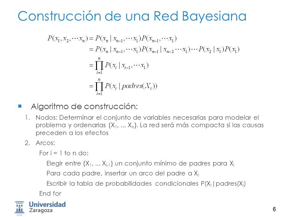 7 Causalidad y Correlación BE A JM JM A B E Orden: {B, E, A, J, M}Orden: {J, M, A, B, E}