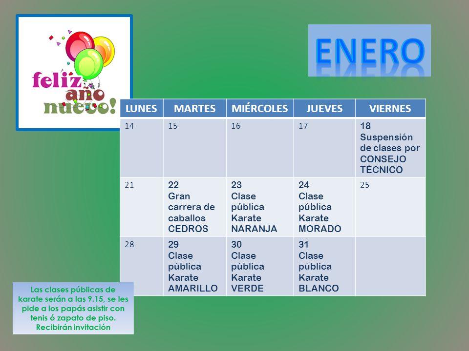 2 Sra Carmen (Intendencia) 7 Miss Clau (Salón plateado) 10 Caro (Intendencia) 18 Miss Itzel (Cantos y juegos) 23 Miss Sarita (Coord.