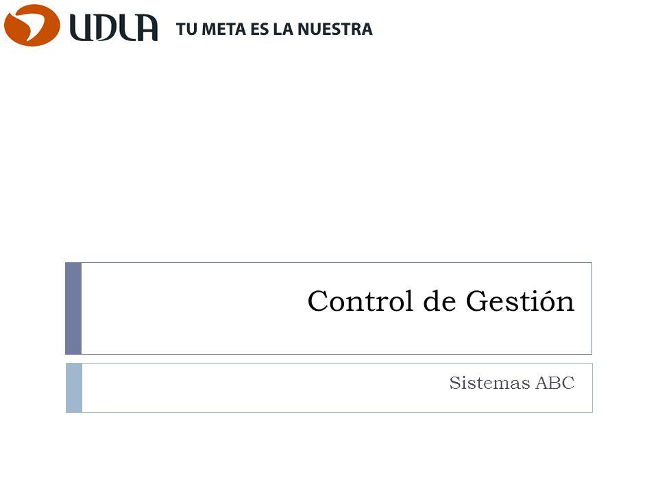 Control de Gestión Sistemas ABC