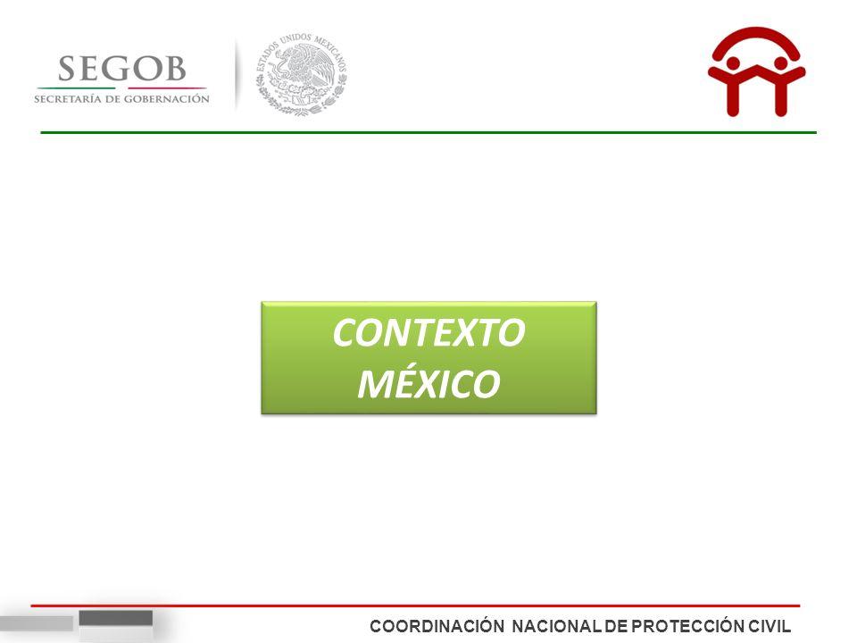 COORDINACIÓN NACIONAL DE PROTECCIÓN CIVIL CONTEXTO MÉXICO
