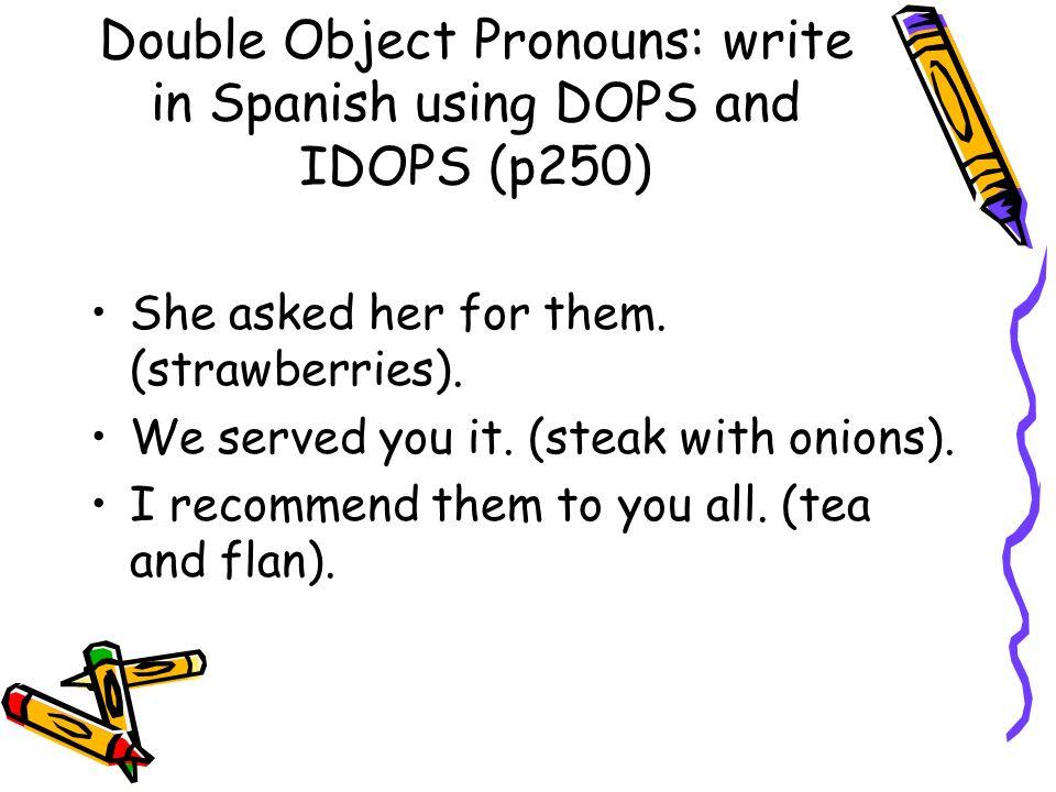 DOPS/IDOPs: answers Ella se las pidió. Nosotros te lo servimos. Yo se los recomiendo.