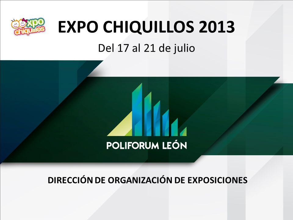 DIRECCIÓN DE ORGANIZACIÓN DE EXPOSICIONES EXPO CHIQUILLOS 2013 Del 17 al 21 de julio