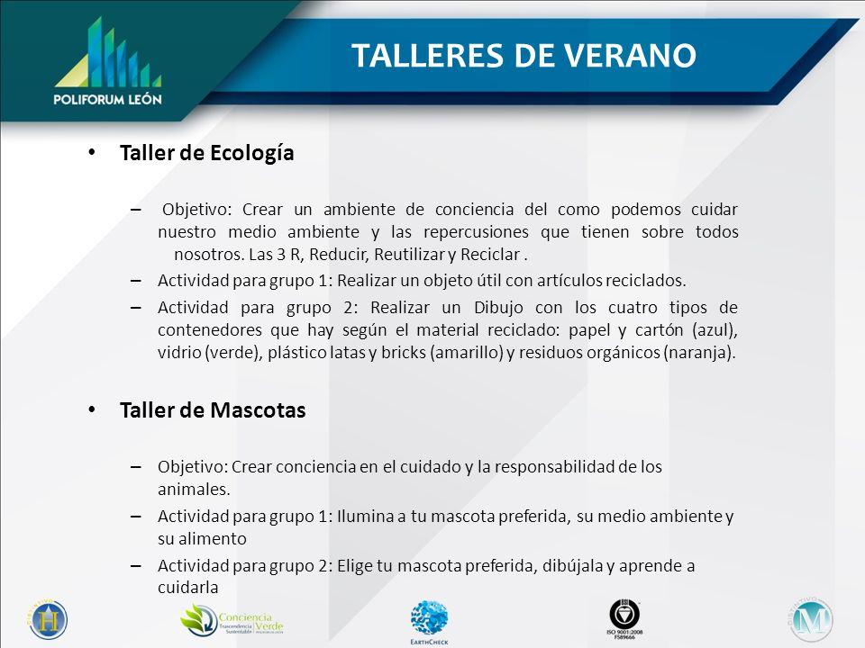 Taller de Ecología – Objetivo: Crear un ambiente de conciencia del como podemos cuidar nuestro medio ambiente y las repercusiones que tienen sobre todos nosotros.