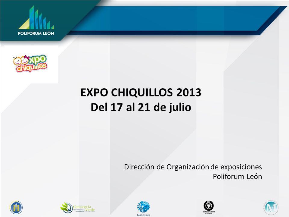 EXPO CHIQUILLOS 2013 Del 17 al 21 de julio Dirección de Organización de exposiciones Poliforum León