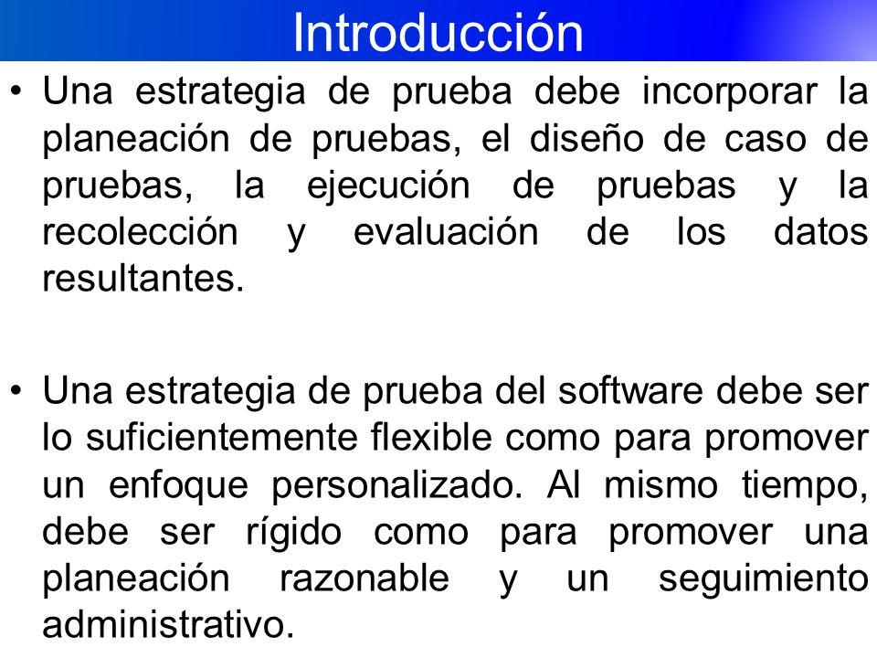 Introducción El software se prueba para descubrir errores cometidos sin darse cuenta al realizar su diseño y construcción.