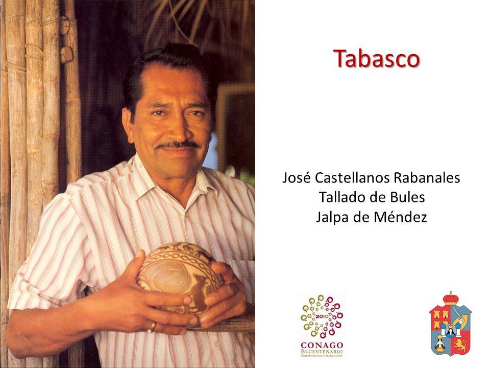 Tabasco José Castellanos Rabanales Tallado de Bules Jalpa de Méndez