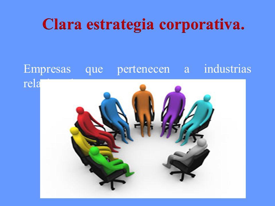 Empresas que pertenecen a industrias relacionadas