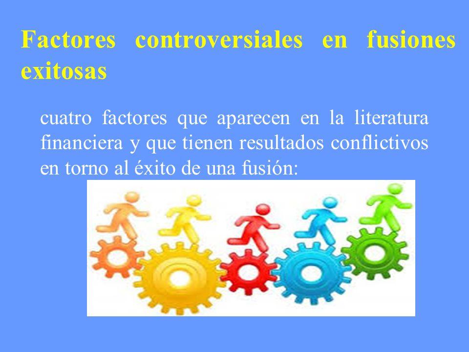Factores controversiales en fusiones exitosas cuatro factores que aparecen en la literatura financiera y que tienen resultados conflictivos en torno a
