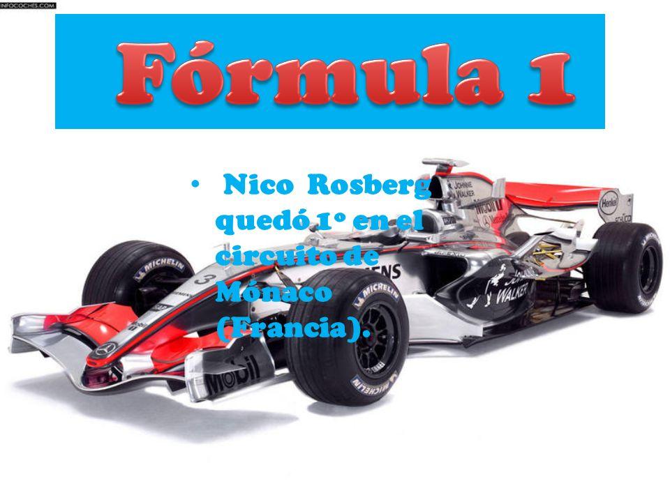 Nico Rosberg quedó 1º en el circuito de Mónaco (Francia).