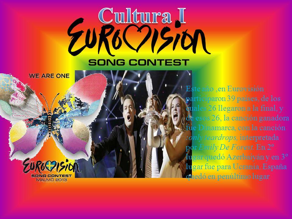 Este año,en Eurovisión participaron 39 países, de los cuales 26 llegaron a la final, y de esos 26, la canción ganadora fue Dinamarca, con la canción :