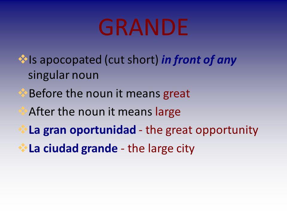 I.Practicamos: Write a complete sentence describing each thing or person below.