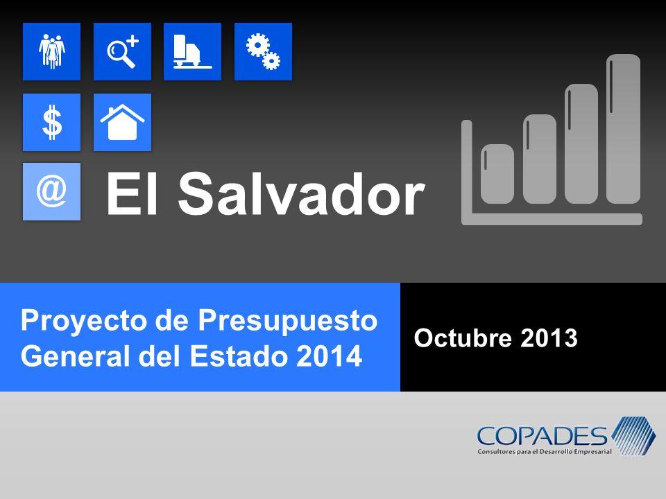 El Salvador Proyecto de Presupuesto General del Estado 2014 Octubre 2013