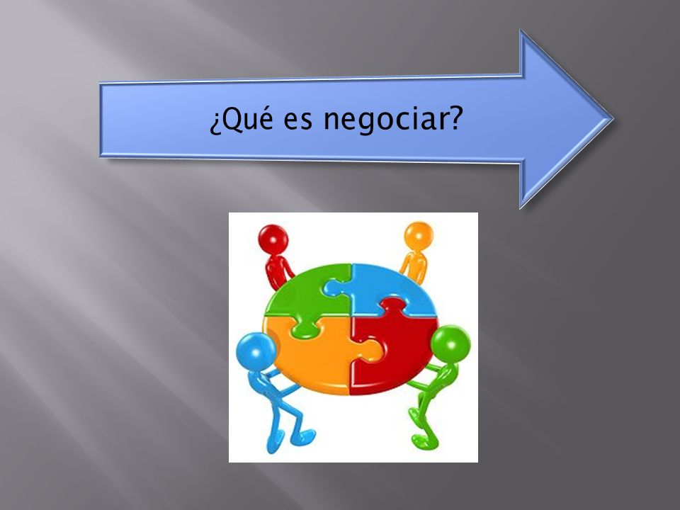 ¿Qué es negociar.