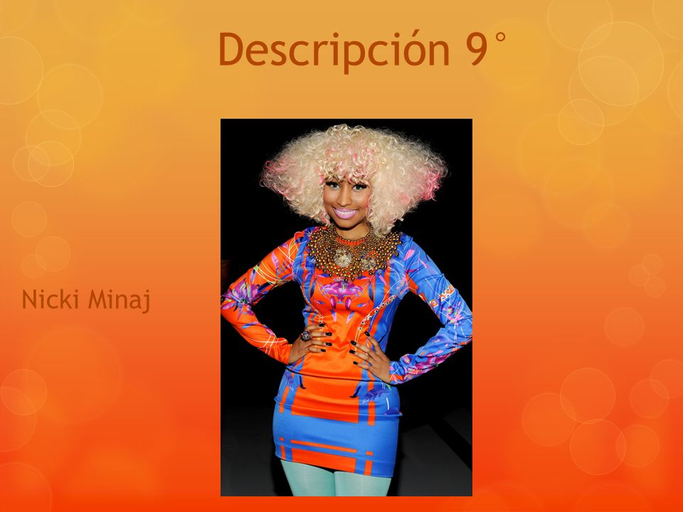 Descripción 9° Nicki Minaj