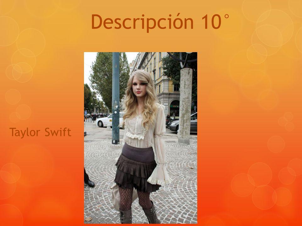 Descripción 10° Taylor Swift