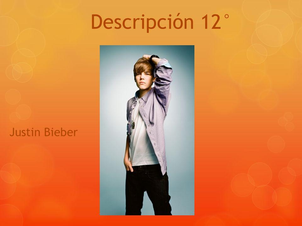Descripción 12° Justin Bieber