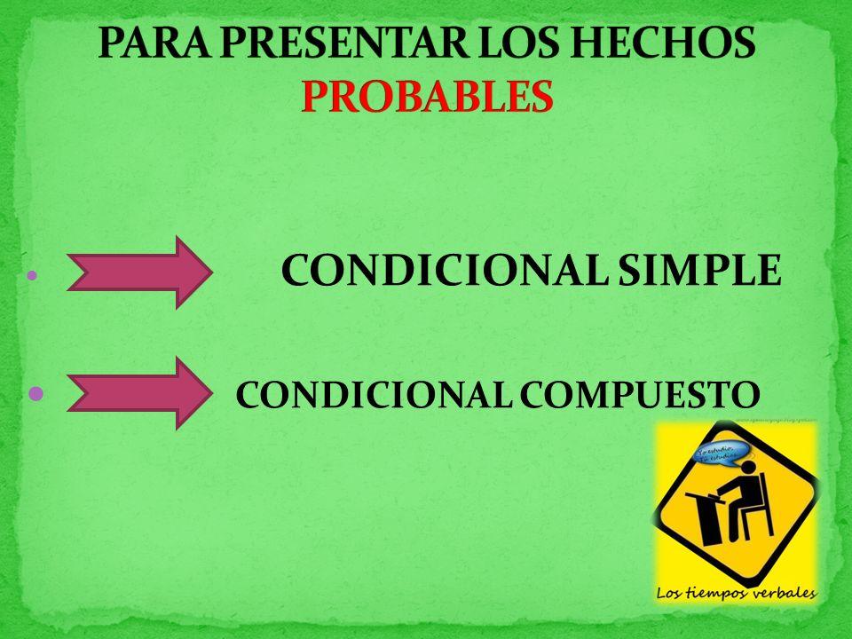CONDICIONAL SIMPLE CONDICIONAL COMPUESTO
