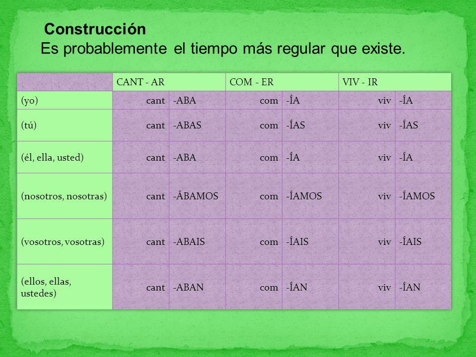 Construcción Es probablemente el tiempo más regular que existe.