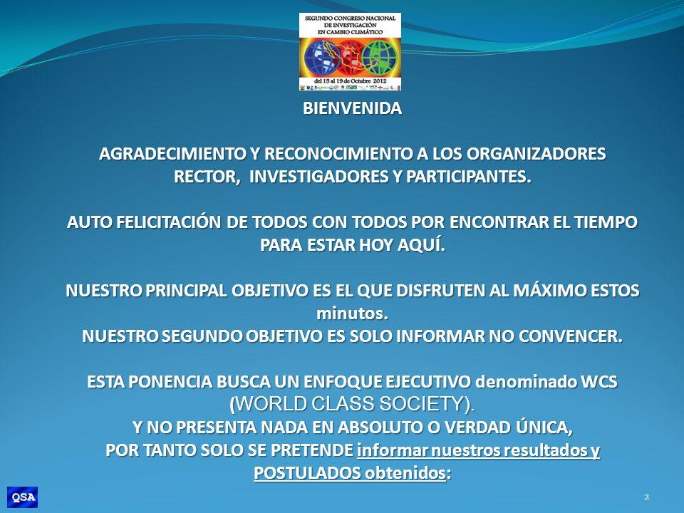 ENERGÍAS RENOVABLES Y CAMBIO CLIMÁTICO (POSTULADOS PRINCIPALES).