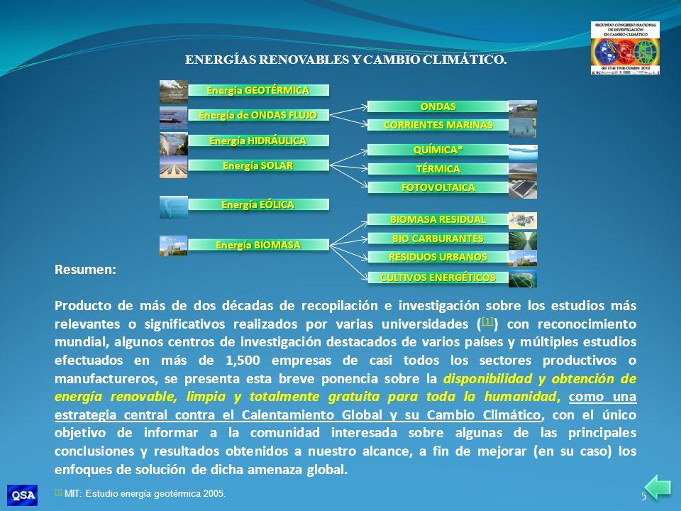 ENERGÍAS RENOVABLES Y CAMBIO CLIMÁTICO.Introducción y enfoque de solución.
