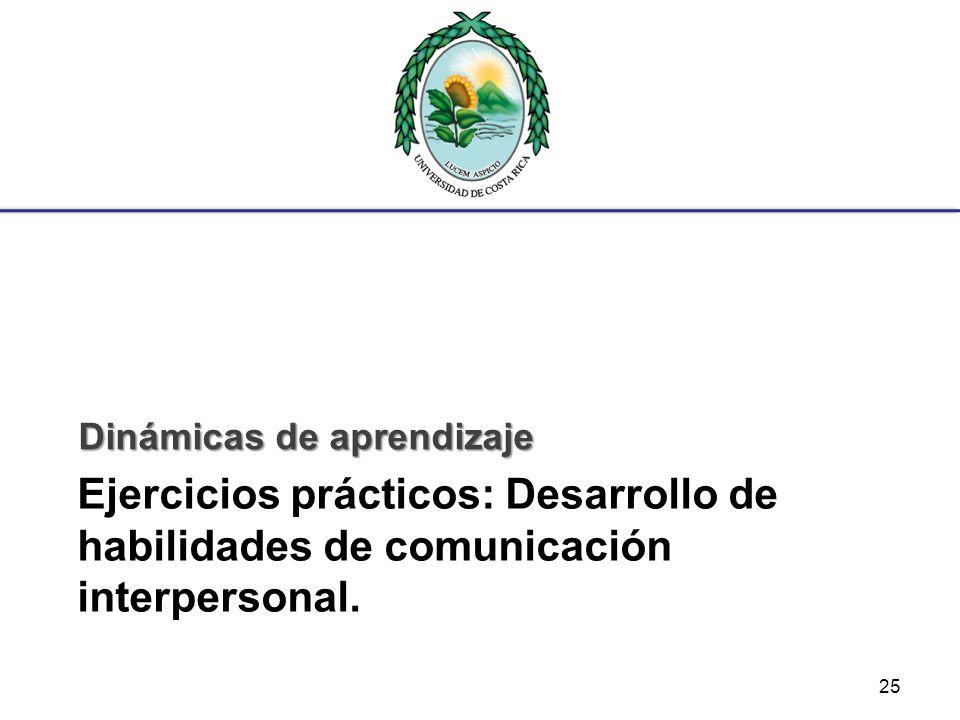 Ejercicios prácticos: Desarrollo de habilidades de comunicación interpersonal. Dinámicas de aprendizaje 25