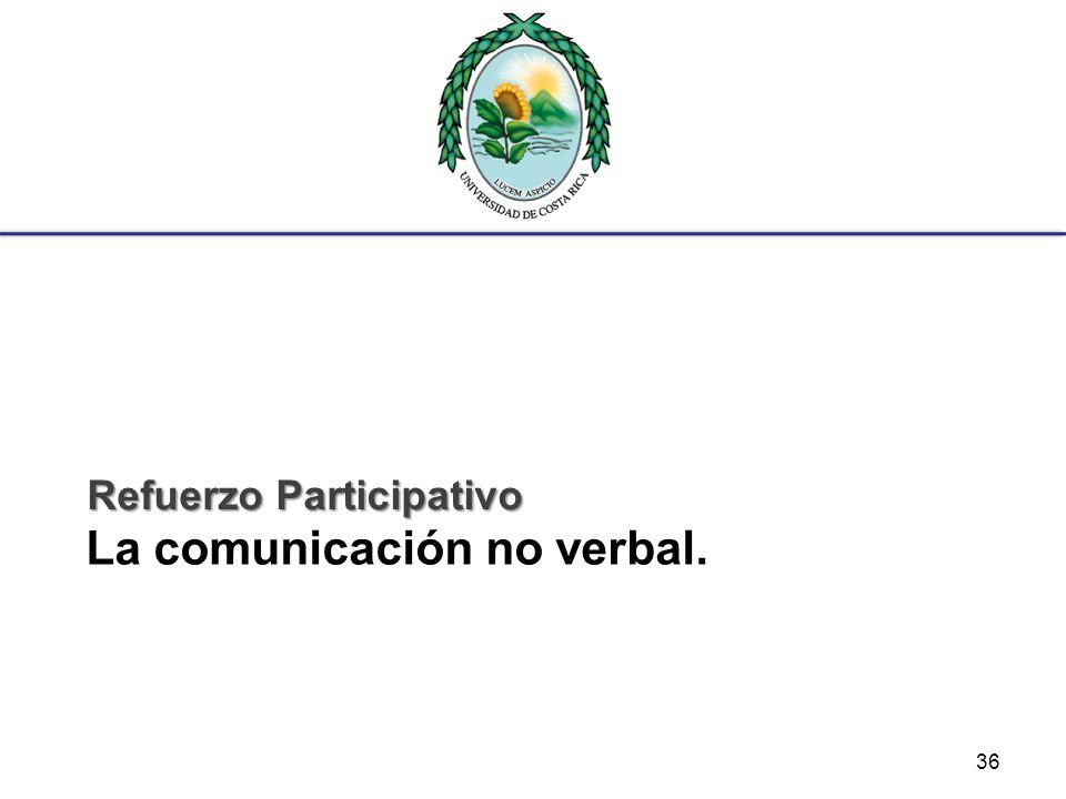 La comunicación no verbal. Refuerzo Participativo 36
