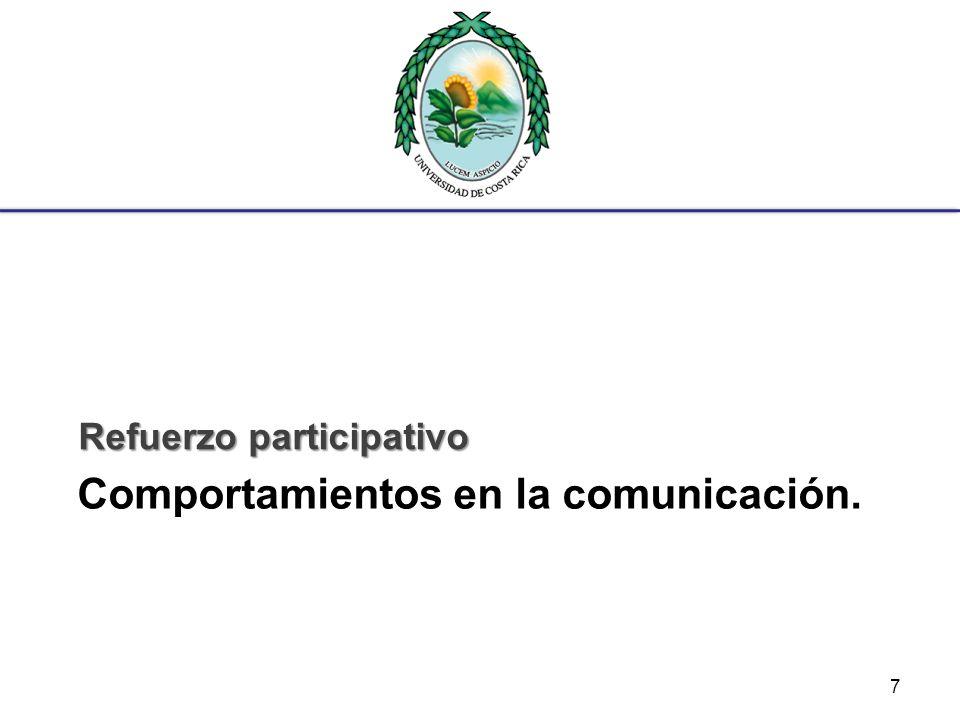 Habilidades de comunicación: Expresión Oportuna Es la habilidad para expresar oportunamente las ideas, pensamientos y emociones.