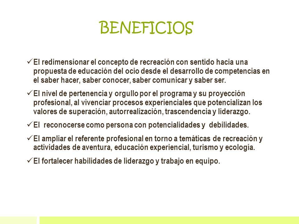 El redimensionar el concepto de recreación con sentido hacia una propuesta de educación del ocio desde el desarrollo de competencias en el saber hacer