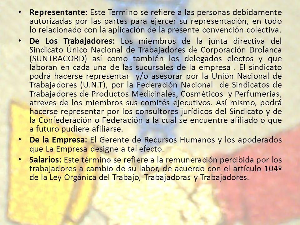 Representante: Este Término se refiere a las personas debidamente autorizadas por las partes para ejercer su representación, en todo lo relacionado co