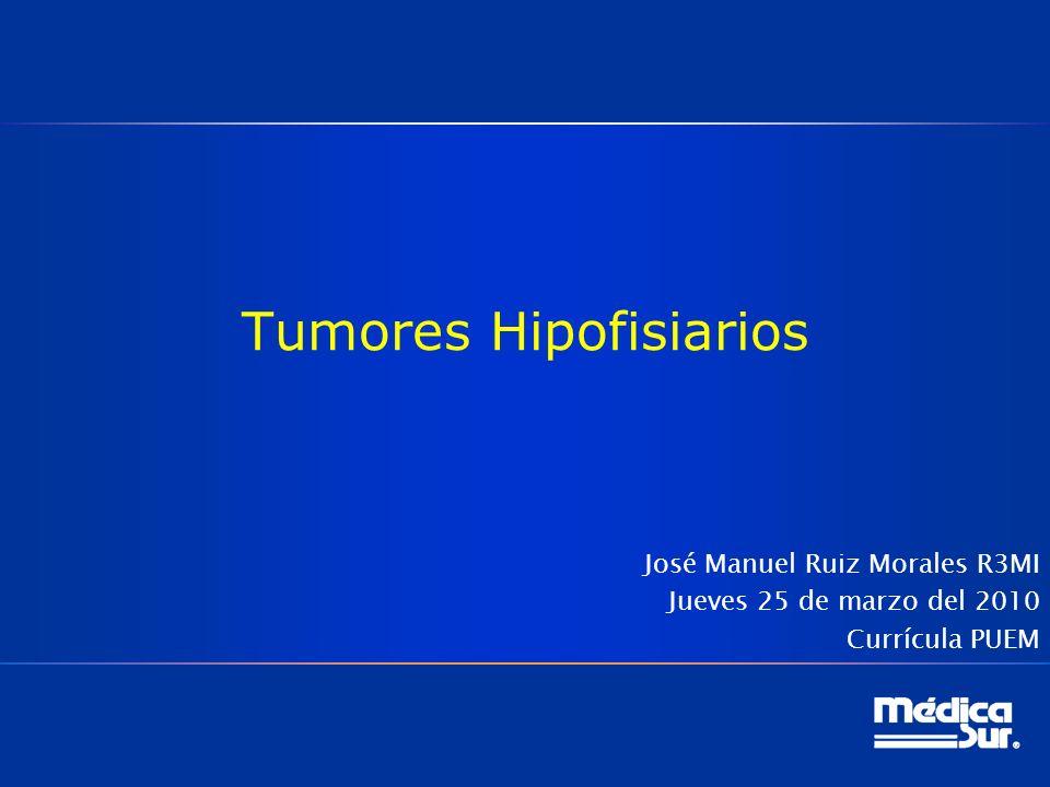 Prolactinomas malignos Carcinoma 1 / 1 600 casos Alteraciones genéticas no vistas en tumores benignos 30% de todos los carcinomas hipofisiarios (120 casos reportados) Sergio Hernández Jiménez.