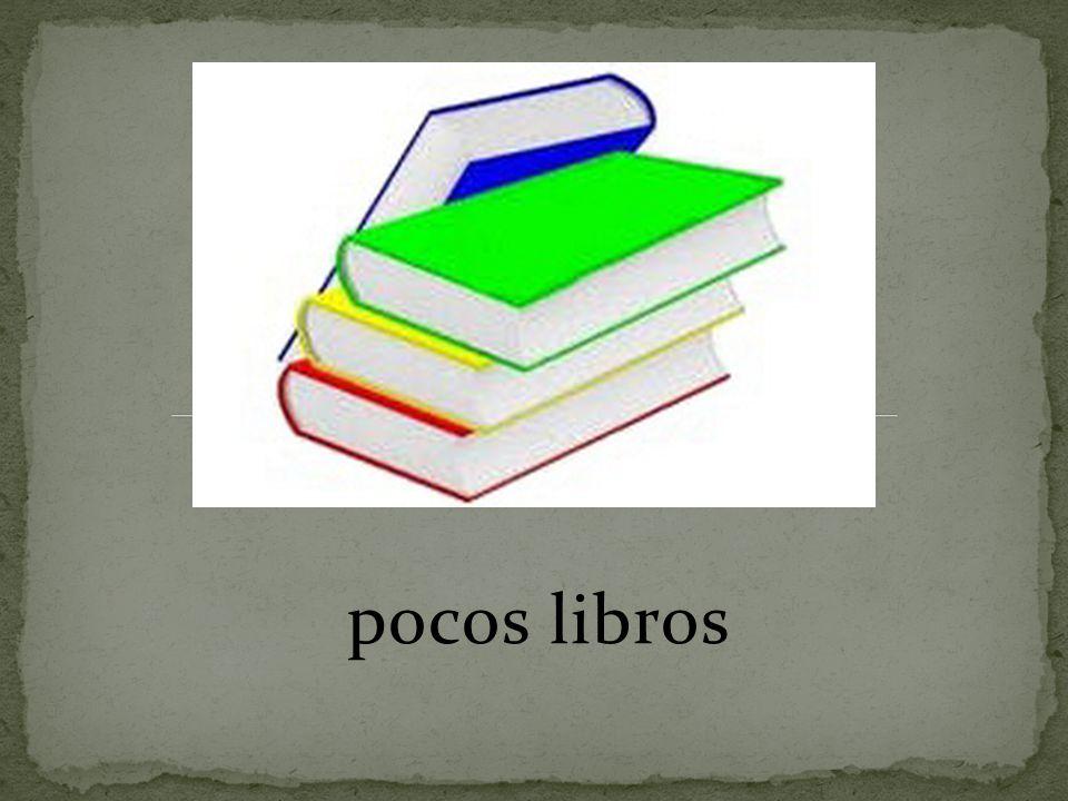 pocos libros
