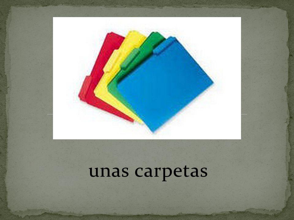 unas carpetas