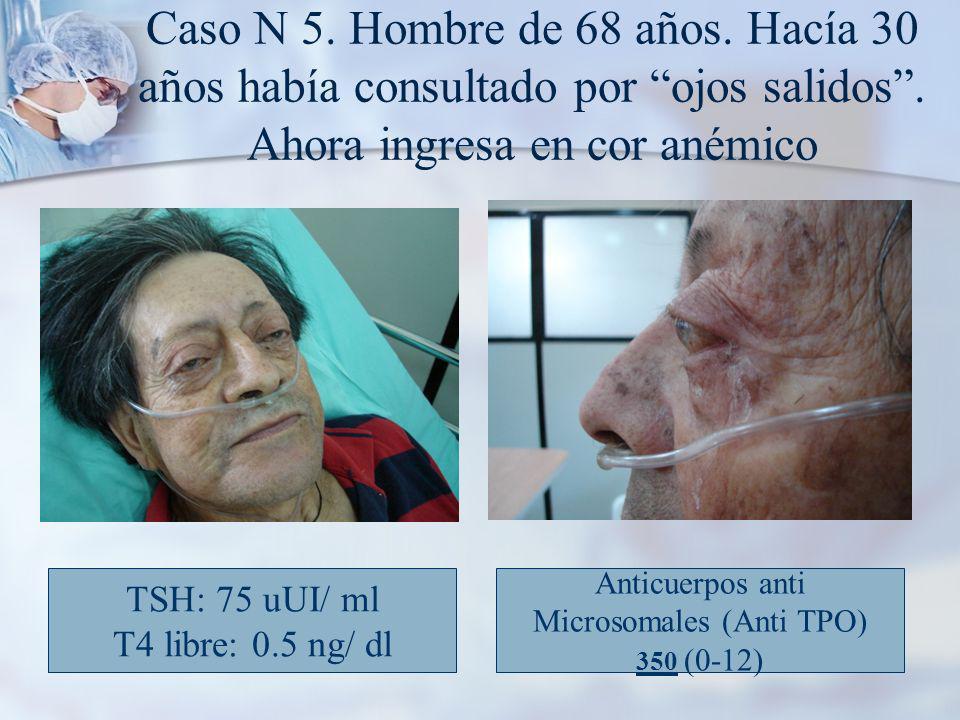 Caso N 5.Hombre de 68 años. Hacía 30 años había consultado por ojos salidos.