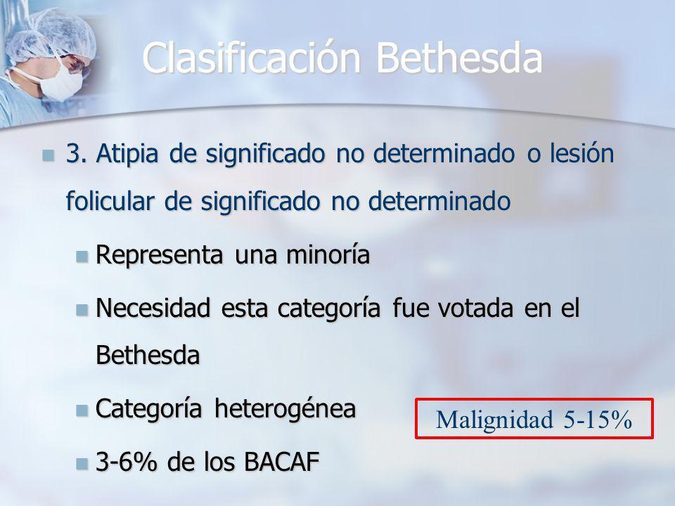 Clasificación Bethesda 3.
