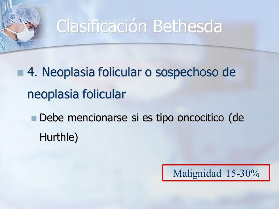 Clasificación Bethesda 4.Neoplasia folicular o sospechoso de neoplasia folicular 4.